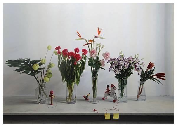 黃坤伯 身騎白馬 布面油畫 182 x 259 cm 2013-14