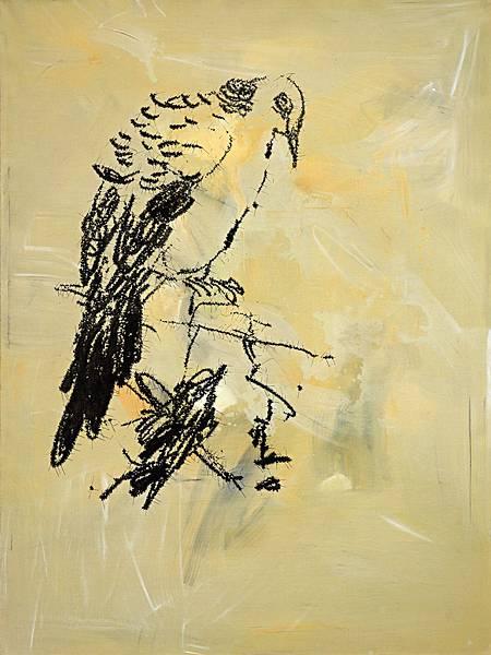 葉永青_Ye_Yongqing_畫鳥_ Painting_Birds_200X150_cm_2014_布面丙烯_Acrylic_on_Canvas