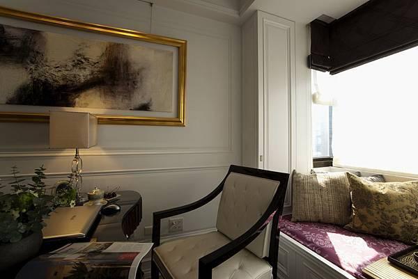 麗景-書房窗簾與坐墊