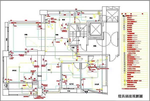 圖8 .燈具插座規劃圖