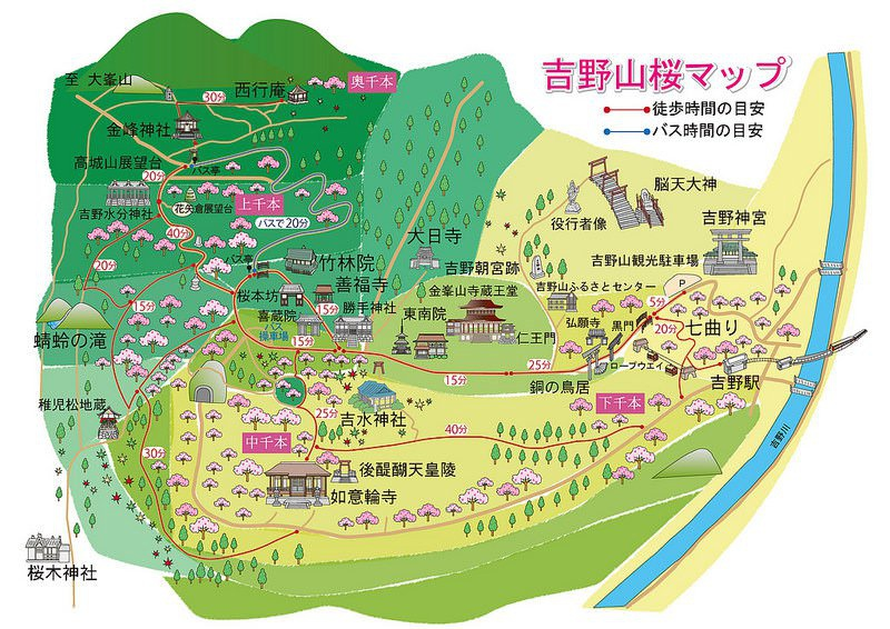 《奈良賞櫻景點》吉野山.吉水神社:一目千本的-37.jpg