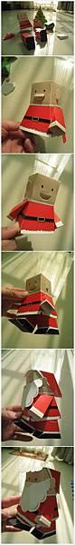 聖誕老公公立體摺紙組裝.jpg