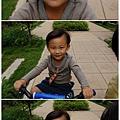 騎腳踏車弟弟表情