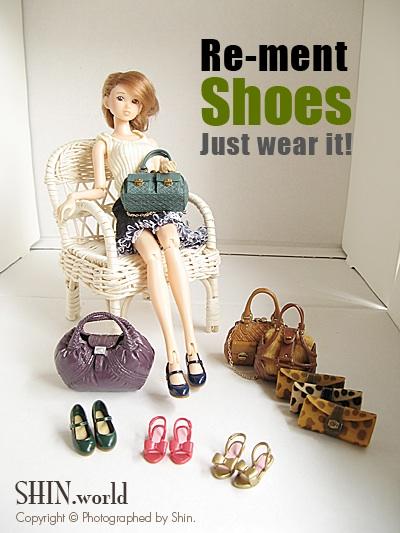 [re-ment] 鞋組 一代:鞋子+包包