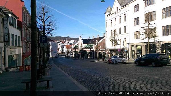 清晨Bergen街景