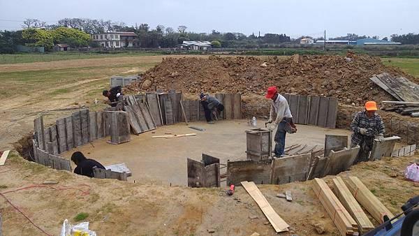 1030805桃園新屋3號咖啡館-水池景觀工程2-施工中5