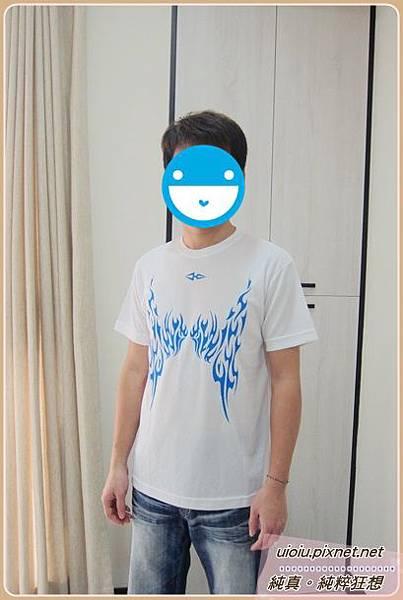 KUTLAT SPORTS/崑加-3M速乾透氣印花圓領Tee (藍)001-1.JPG