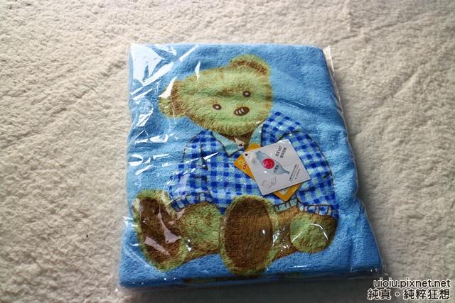 格蕾絲GRACE/泓棨 櫻桃熊浴巾001.JPG