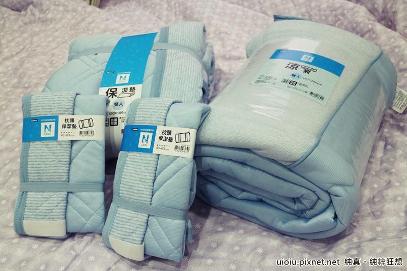 宜得利 N Cool涼被+枕頭保潔墊+床墊保潔墊之寢具組001.JPG