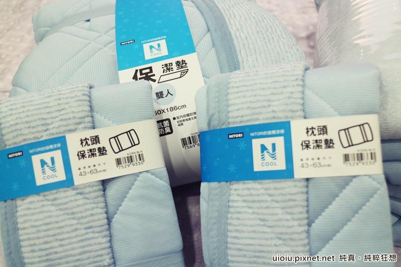 宜得利 N Cool涼被+枕頭保潔墊+床墊保潔墊之寢具組002.JPG