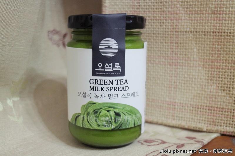 韓國抹茶牛奶抹醬002.JPG