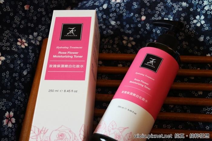 法蘭西娜 玫瑰保濕嫩白化妝水 肌賦活熟嫩保濕面膜002.JPG