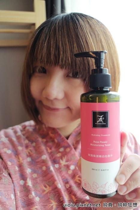 法蘭西娜 玫瑰保濕嫩白化妝水 肌賦活熟嫩保濕面膜016.JPG
