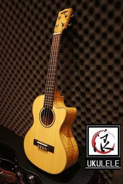 阿浪老師烏克麗麗-美國品牌KALA-玫紋楓木全單板高級琴.jpg