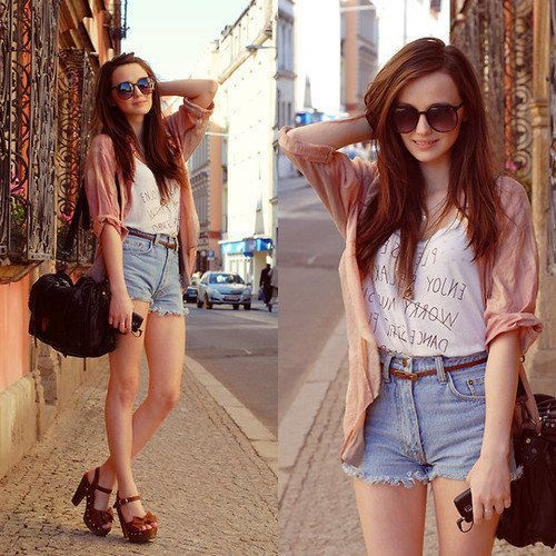 high-waisted-jean-shorts-layer
