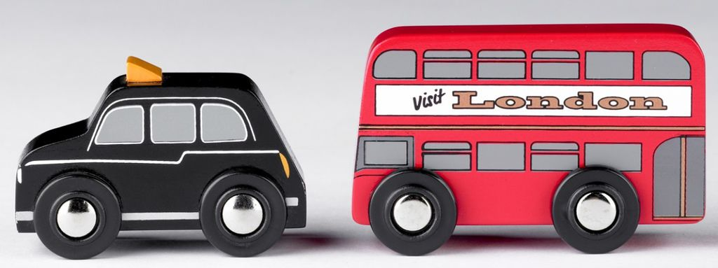 red bus and black cab(t0111)