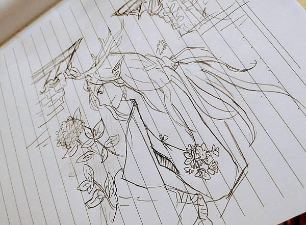 塗鴉_繡球鹿