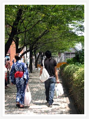 淺草隅田川花火祭,遇到第二個穿著浴衣的日本妹