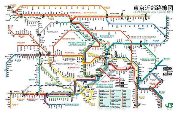JR東京近郊地鐵圖300dpi-列印尺寸A4