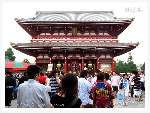 淺草-2007隅田川花火祭-淺草觀音寺