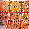 長青春科爾寺-天花板鮮豔的圖紋(2.jpg