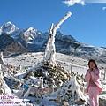 康定瀘定界線-雪山上的瑪尼堆.jpg