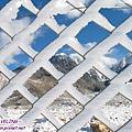康定瀘定界線-近拍鐵網積雪,將雪山框在格子中.jpg