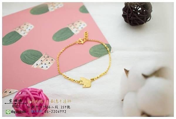 【客製化 #寵物黃金手鍊】  挑選現有的🌺黃金手鍊來做修改 放上女孩喜歡的貓咪😽 完成別的地方找不到的樣式!  💎-------------------------