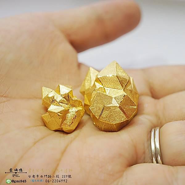 【特殊的訂做金飾 #純金水晶 #擺件】