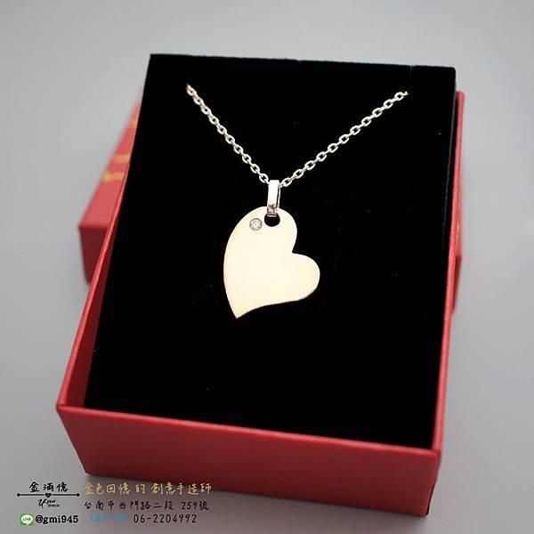 【美麗的祝福-訂作銀飾-情侶純銀項鍊】
