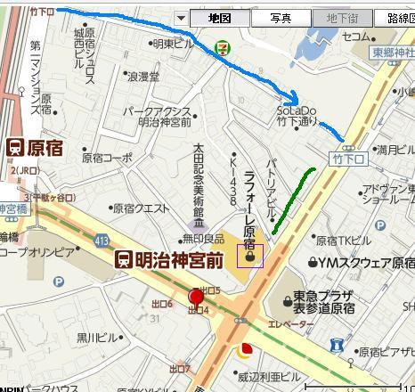 明治神宮前 附近地圖