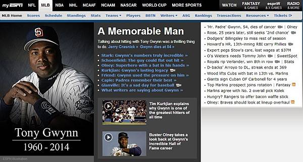Tony Gwynn by ESPN