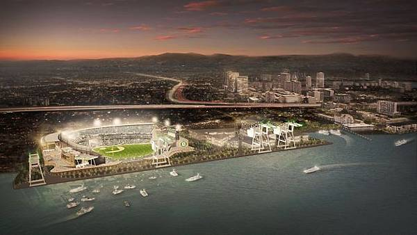 Proposed ballpark for the Oakland A