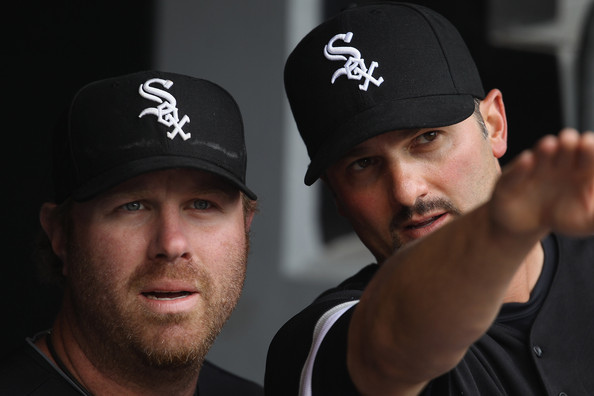 2011 Adam+Dunn with Paul Konerko Jonathan Daniel_Getty Images North America