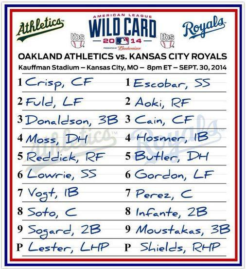 2014 OAK-KC WC lineup