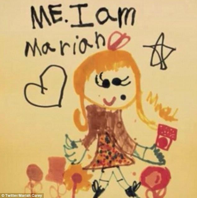 瑪麗亞凱莉兒時自畫像