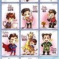 SJ。啦啦啦~超級符合小子們形象的卡通Q版喲^^