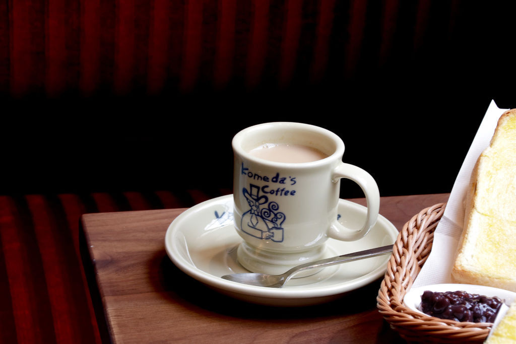 台北 Komeda's Coffee コメダ珈琲店,名古屋活力朝食,點咖啡送烤土司(下)