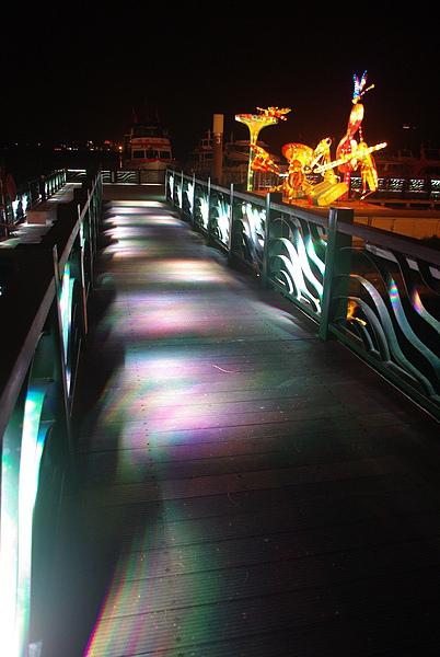 浪漫的碼頭棧橋