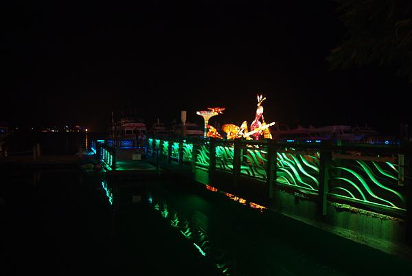 寧靜浪漫的水社碼頭夜景(因為是週四)
