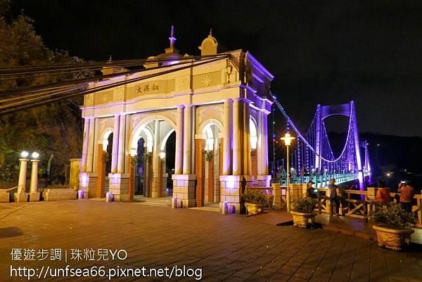 image005_YoYoTempo_【桃園旅遊景點】光彩絢麗的大溪橋在夜晚有華麗的風貌.jpg