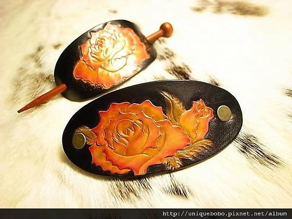 皮雕時尚髮夾-紅黃玫瑰二朵-HH0109-680-R1060166 [640x480].JPG