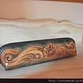皮雕唐草筆袋-HP0101-0091