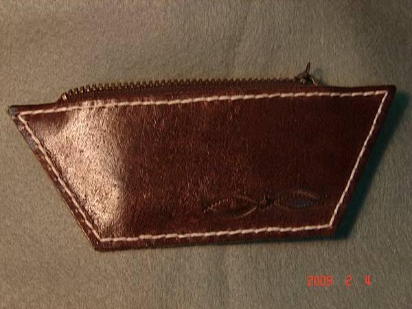 真皮皮雕手縫零錢包C401