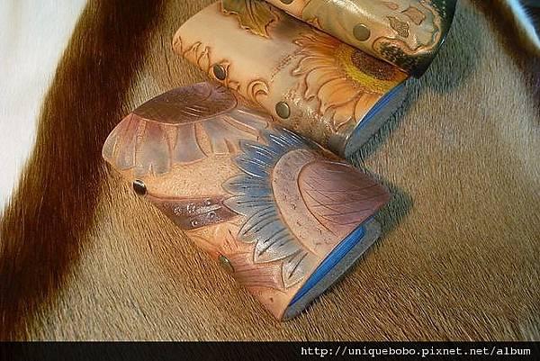 皮雕卡夾-抽象圖案向日葵-CS0204-880-R1049693 [640x480].JPG