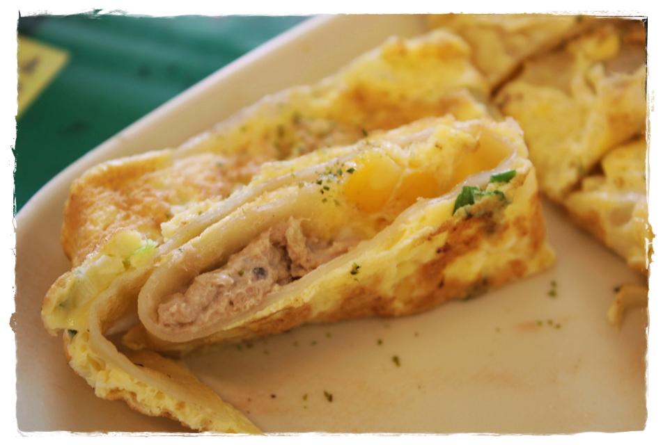 蔡蛋早餐店-鮪魚蛋餅內餡