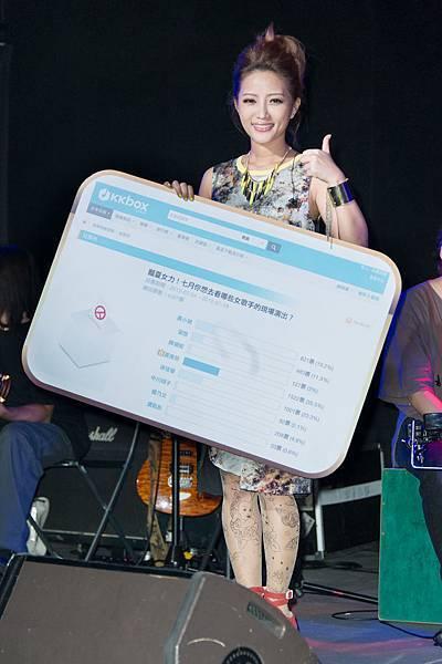 黃美珍獲最想看到現場演唱女歌手冠軍
