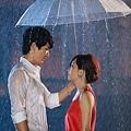 梁靜茹拍偶陣雨mv在大雨中和師弟對望