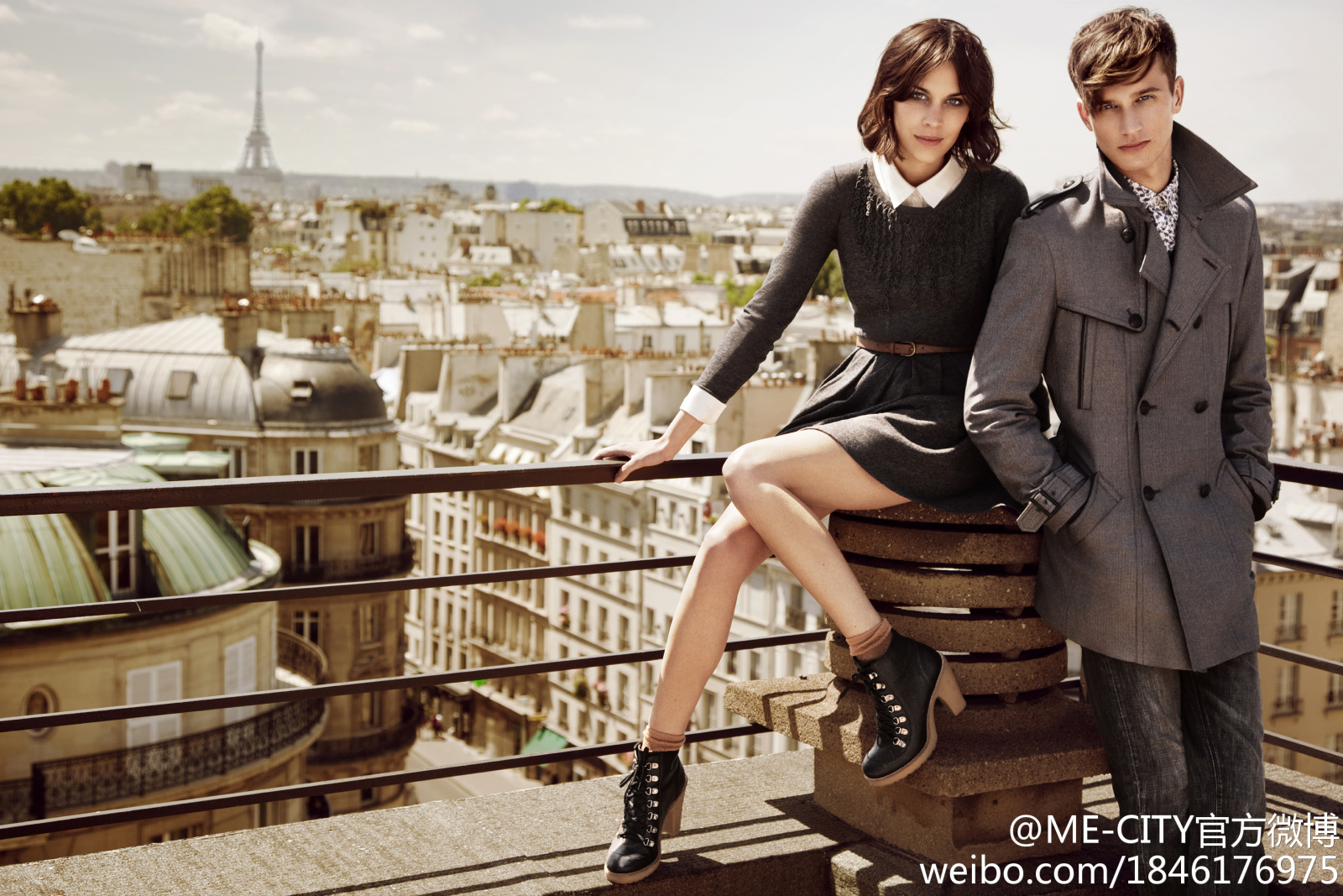 ME&CITY FW 11-12 campaign ft Alexa Chung & Dennis Jager by Kai Z Feng
