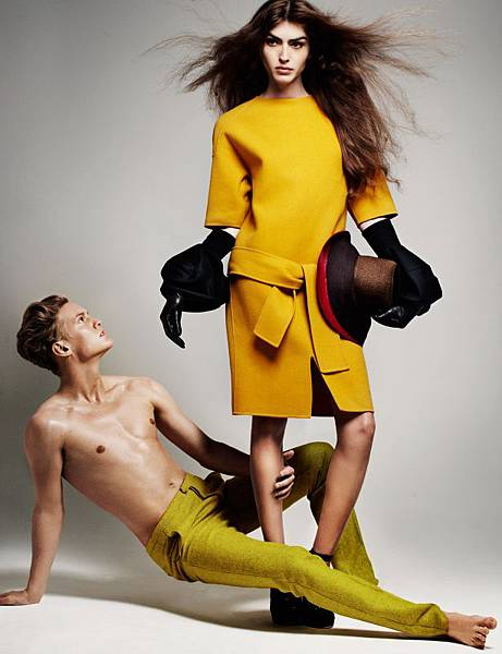 Dafne Cejas and Alexander Johansson by Marcus Ohlsson for bon FW11